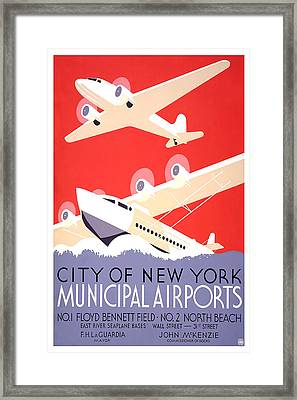 City Of New York Municipal Airports Framed Print