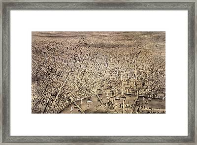 City Of Newark, N.j Framed Print by Litz Collection