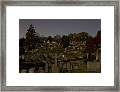 City Of Night Framed Print by Jemmy Archer