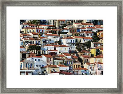 City Of Plomari Framed Print by George Atsametakis