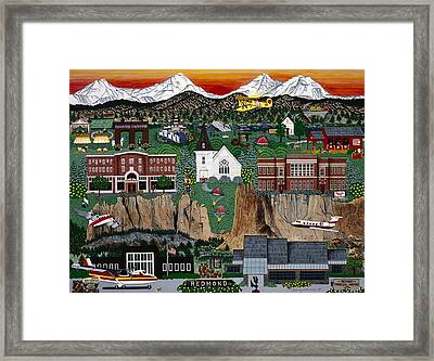 Framed Print featuring the painting City Of Redmond by Jennifer Lake