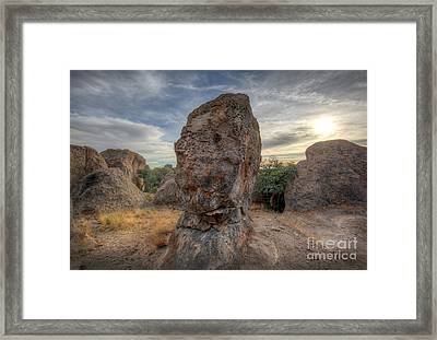Framed Print featuring the photograph City Of Rocks by Martin Konopacki