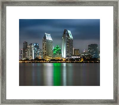 City Of San Diego Skyline 1 Framed Print by Larry Marshall