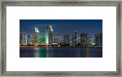 City Of San Diego Skyline 2 Framed Print by Larry Marshall