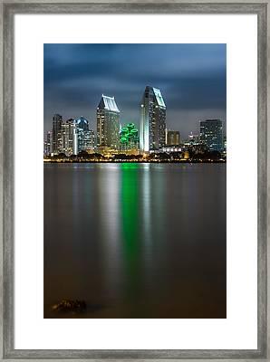 City Of San Diego Skyline 3 Framed Print by Larry Marshall