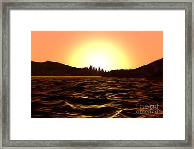 Framed Print featuring the painting City Of The Sun by Pet Serrano