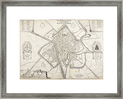 City Of York Framed Print by British Library