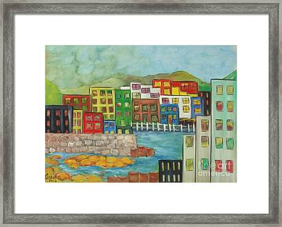 City On The Canal Framed Print