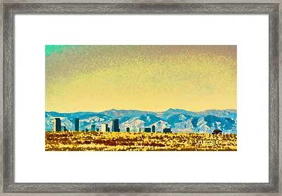 City On The Plains Framed Print