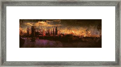 City On The Sea Framed Print by Lonnie Christopher
