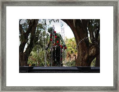 City Park Fountain Framed Print