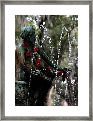 City Park Fountain II Framed Print