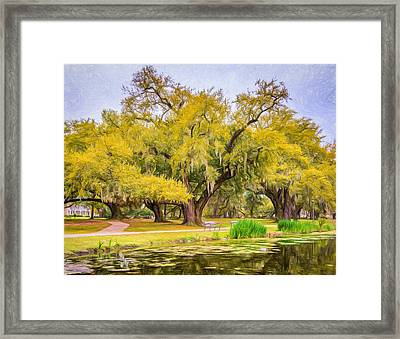 City Park Giants - Paint Framed Print by Steve Harrington