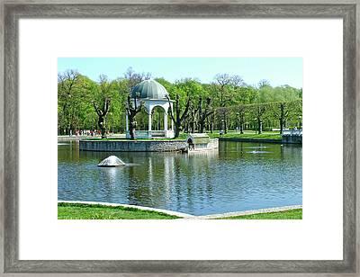 City Park In Tallinn-estonia Framed Print by Ruth Hager