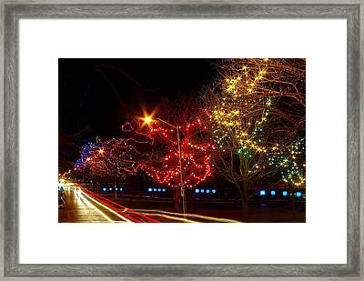 City Park Lights Framed Print by Paul Wash