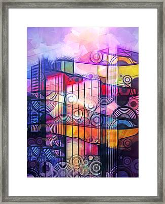 City Patterns 4 Framed Print by Lutz Baar