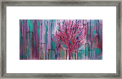 City Pear Tree Framed Print by Nan Bilden