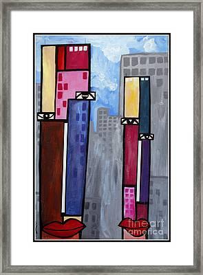 City People Framed Print by Kip Krause