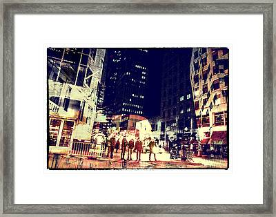 City People Framed Print