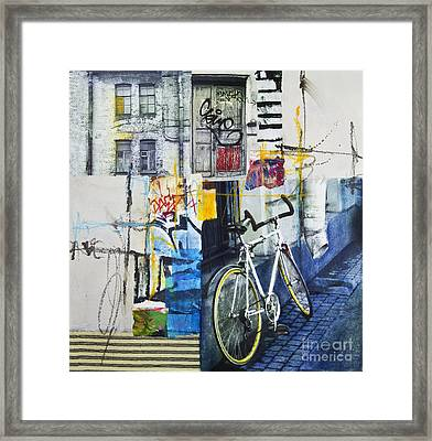 City Poetry Framed Print