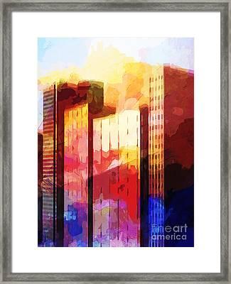 City Pop Framed Print by Lutz Baar