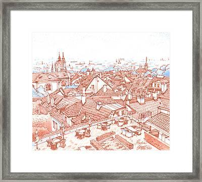 City. Prague Framed Print by Olga Sorokina