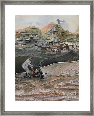 City Progress And Simplicity Framed Print by Ellen Moore Osborne