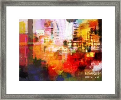 City Pulse Framed Print