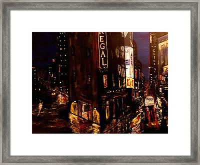 City Rain 2 Framed Print by Mark Moore