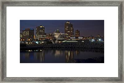 Framed Print featuring the photograph City Reflection by Deborah Klubertanz