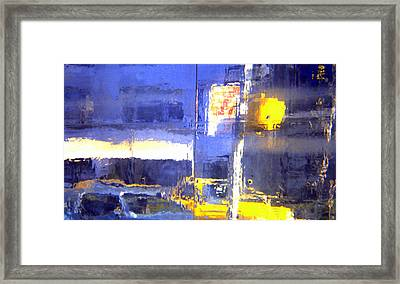 City Reflection Framed Print