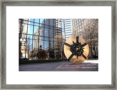 City Reflections - Charlotte Nc Framed Print