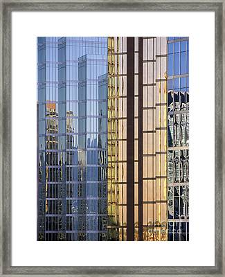 City Reflections Framed Print by Sandra Bronstein