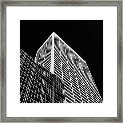 City Relief Framed Print by Dave Bowman