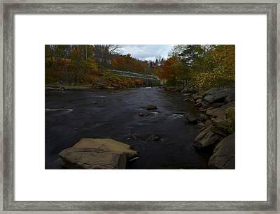 City River Framed Print by Julie Smith