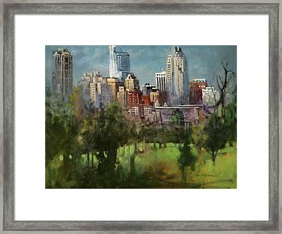 City Set On A Hill Framed Print