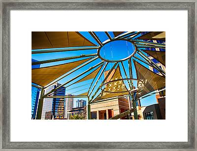 City Shapes Framed Print by Fred Larson