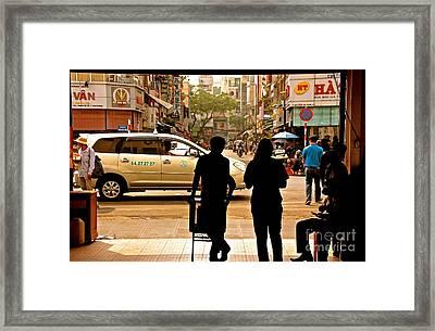 City Silhouette Framed Print by David Warrington