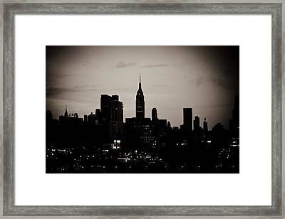 City Silhouette Framed Print by Sara Frank