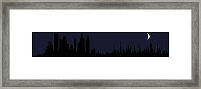 Framed Print featuring the digital art City Skyline... by Tim Fillingim