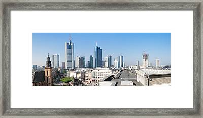 City Skyline With St. Catherines Church Framed Print by Panoramic Images