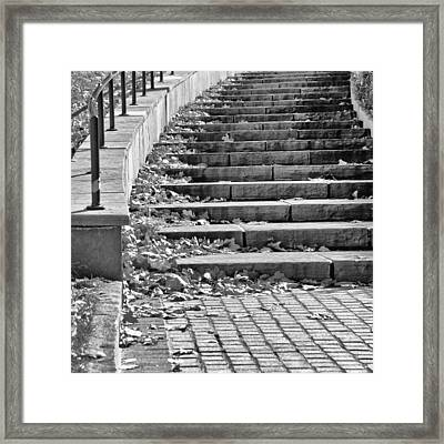 City Steps 1 Squared Framed Print by Angelina Vick