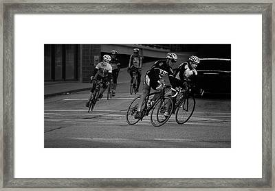 City Street Cycling Framed Print