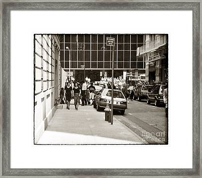 City Streets 1990s Framed Print by John Rizzuto