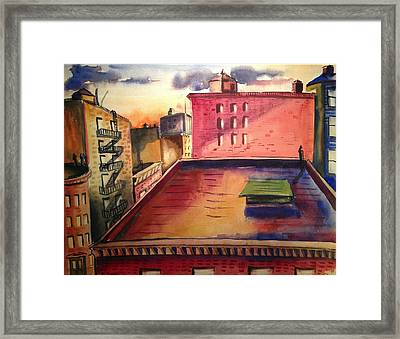 City Sunset Framed Print by Maxwell Mandell
