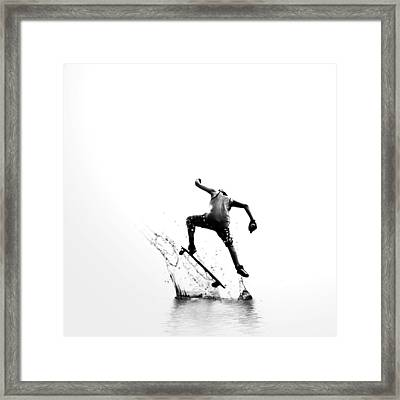 City Surfer Framed Print by Natasha Marco