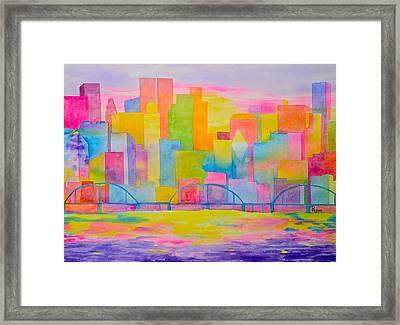 City To Dye For Framed Print