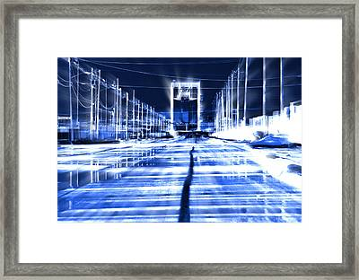 City Transformed Overnight Framed Print by Kellice Swaggerty
