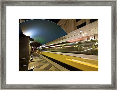 Framed Print featuring the photograph City Transit by John Babis
