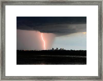 City Under Attack Close Up Framed Print by David Lee Thompson